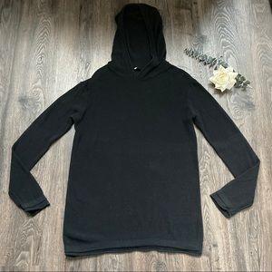 T by Alexander Wang Open Knit Hooded Sweater XS